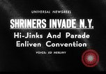 Image of The Shriners parade New York City USA, 1964, second 2 stock footage video 65675043298