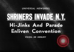 Image of The Shriners parade New York City USA, 1964, second 4 stock footage video 65675043298