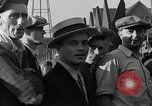 Image of workers end shipyard strike Camden New Jersey USA, 1935, second 36 stock footage video 65675043348