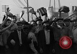 Image of workers end shipyard strike Camden New Jersey USA, 1935, second 44 stock footage video 65675043348