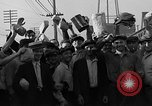 Image of workers end shipyard strike Camden New Jersey USA, 1935, second 45 stock footage video 65675043348