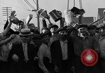 Image of workers end shipyard strike Camden New Jersey USA, 1935, second 46 stock footage video 65675043348