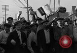 Image of workers end shipyard strike Camden New Jersey USA, 1935, second 48 stock footage video 65675043348