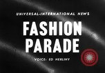 Image of Fashion show New York United States USA, 1958, second 1 stock footage video 65675043360