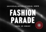 Image of Fashion show New York United States USA, 1958, second 2 stock footage video 65675043360