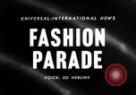 Image of Fashion show New York United States USA, 1958, second 4 stock footage video 65675043360