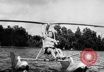 Image of Hydro-Glider Cypress Garden Florida USA, 1955, second 10 stock footage video 65675043381