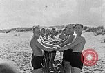 Image of Hitler Youth at beach Poland, 1940, second 15 stock footage video 65675043398