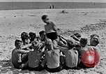 Image of Hitler Youth at beach Poland, 1940, second 26 stock footage video 65675043398