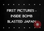 Image of Bomb damage in Japan Hiroshima Japan, 1945, second 30 stock footage video 65675043424