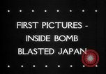 Image of Bomb damage in Japan Hiroshima Japan, 1945, second 33 stock footage video 65675043424