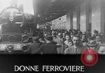 Image of Women railroad workers Italy, 1943, second 21 stock footage video 65675043452