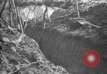 Image of trench camouflage World War 1 France, 1918, second 40 stock footage video 65675043548