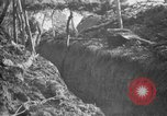 Image of trench camouflage World War 1 France, 1918, second 41 stock footage video 65675043548