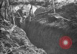 Image of trench camouflage World War 1 France, 1918, second 43 stock footage video 65675043548