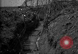 Image of trench camouflage World War 1 France, 1918, second 46 stock footage video 65675043548