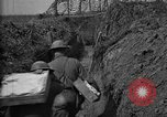 Image of trench camouflage World War 1 France, 1918, second 48 stock footage video 65675043548
