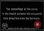 Image of trench camouflage World War 1 France, 1918, second 53 stock footage video 65675043548