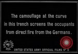 Image of trench camouflage World War 1 France, 1918, second 54 stock footage video 65675043548
