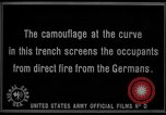 Image of trench camouflage World War 1 France, 1918, second 56 stock footage video 65675043548
