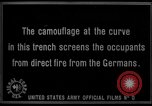 Image of trench camouflage World War 1 France, 1918, second 57 stock footage video 65675043548