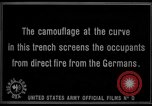 Image of trench camouflage World War 1 France, 1918, second 59 stock footage video 65675043548