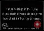 Image of trench camouflage World War 1 France, 1918, second 60 stock footage video 65675043548