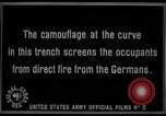Image of trench camouflage World War 1 France, 1918, second 61 stock footage video 65675043548