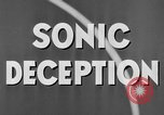 Image of Sonic Deception in war United States USA, 1945, second 29 stock footage video 65675043549