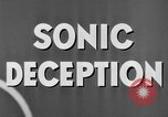 Image of Sonic Deception in war United States USA, 1945, second 30 stock footage video 65675043549