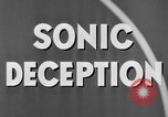 Image of Sonic Deception in war United States USA, 1945, second 31 stock footage video 65675043549