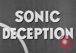 Image of Sonic Deception in war United States USA, 1945, second 32 stock footage video 65675043549
