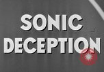Image of Sonic Deception in war United States USA, 1945, second 33 stock footage video 65675043549