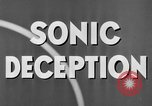 Image of Sonic Deception in war United States USA, 1945, second 34 stock footage video 65675043549