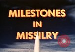 Image of Milestone in Missilery United States USA, 1960, second 41 stock footage video 65675043564