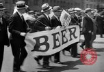 Image of the Great Beer Parade demonstration against prohibition New York City USA, 1932, second 27 stock footage video 65675046021