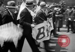 Image of the Great Beer Parade demonstration against prohibition New York City USA, 1932, second 28 stock footage video 65675046021