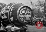 Image of the Great Beer Parade demonstration against prohibition New York City USA, 1932, second 41 stock footage video 65675046021