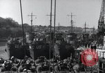 Image of US Large Landing Craft Infantry docked in Weymouth, England  Weymouth England United Kingdom, 1944, second 27 stock footage video 65675046305