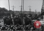 Image of US Large Landing Craft Infantry docked in Weymouth, England  Weymouth England United Kingdom, 1944, second 31 stock footage video 65675046305