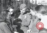 Image of Russian soldiers Prague Czechoslovakia, 1945, second 34 stock footage video 65675046380
