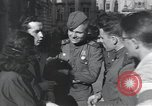 Image of Russian soldiers Prague Czechoslovakia, 1945, second 35 stock footage video 65675046380