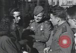 Image of Russian soldiers Prague Czechoslovakia, 1945, second 36 stock footage video 65675046380