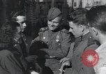 Image of Russian soldiers Prague Czechoslovakia, 1945, second 37 stock footage video 65675046380