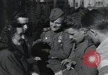 Image of Russian soldiers Prague Czechoslovakia, 1945, second 39 stock footage video 65675046380