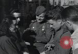 Image of Russian soldiers Prague Czechoslovakia, 1945, second 40 stock footage video 65675046380