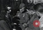Image of Russian soldiers Prague Czechoslovakia, 1945, second 41 stock footage video 65675046380