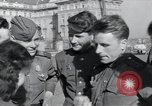 Image of Russian soldiers Prague Czechoslovakia, 1945, second 46 stock footage video 65675046380