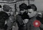 Image of Russian soldiers Prague Czechoslovakia, 1945, second 47 stock footage video 65675046380