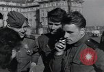 Image of Russian soldiers Prague Czechoslovakia, 1945, second 48 stock footage video 65675046380